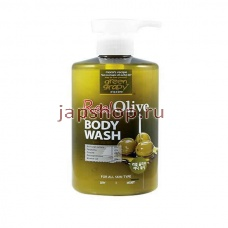 Жидкое мыло, гели для душа, 510267 GreenGrapy Real Olive Velvet Dress + Body Wash Гель для душа с Оливой - Олива + Комплекс Витаминов и Микроэлементов, 500 мл.