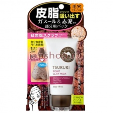 Очищение кожи, 080572 Tsururi Mineral Clay Pack Крем - маска для лица с глиной (для Т-зоны), 55 гр
