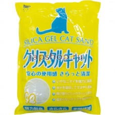 Наполнители для туалета, 008445 Super Cat Silica Gel Cat Sand Наполнитель для кошачьего туалета силикагелевый, 4 л